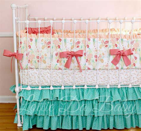 baby crib bedding set reminisce jade by lottiedababy