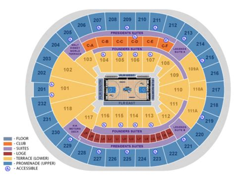 amway center box office seating maps amway center