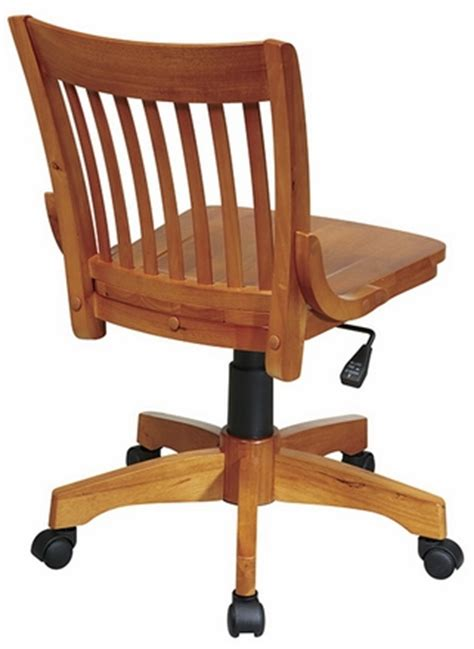Armless Wood Bankers Chair by Office Deluxe Armless Wood Bankers Chair