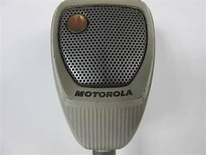 VINTAGE MOTOROLA TABLE TOP HAM CB RADIO MICROPHONE ...