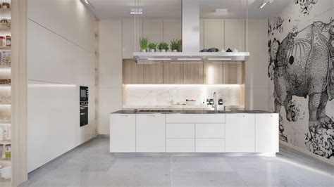 30 Modern White Kitchens That Exemplify Refinement Grey Kitchen Cabinets Yellow Walls Transitional Style Kitchens Traditional Luxury Pictures Of Small Makeovers Rustic Pine Tables Cottage Roman Blinds Contemporary Budget Friendly
