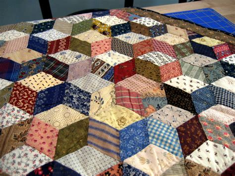 Tumbling Block Quilt Pattern Template by A Sentimental Quilter Tumbling Blocks