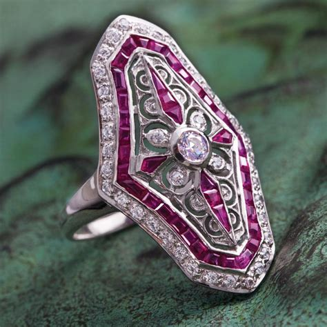 deauville deco ruby ring w6102 stauer