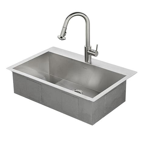 shop american standard 33 in x 22 in single basin stainless steel drop in or undermount