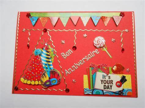 carte d anniversaire pour enfant motifs en 3d cartes 3d ma carterie fait maison carte
