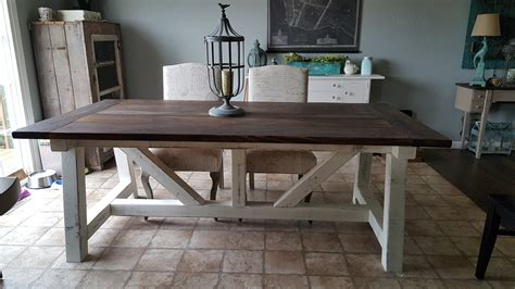 Ana White  4x6 Truss Beam Farm Table  Diy Projects