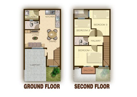 storey townhouse designs studio design gallery best town house plans townhouse 2012002 view4 thraam