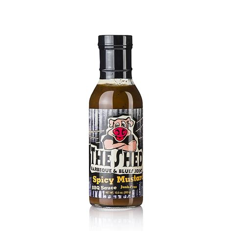 the shed spicy mustard bbq sauce 350 ml glas spiceworld kaufen