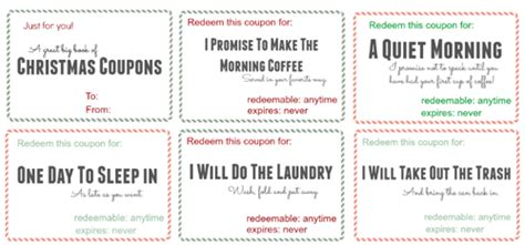FREE Printable Christmas Coupon Book   10% Off K Cup Coupon Code   SheSaved®