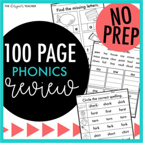 No Prep Independent Phonics Worksheets And Activities Review Tpt