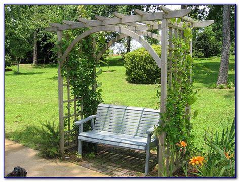 Metal Garden Arbor With Bench  Bench  Home Design Ideas