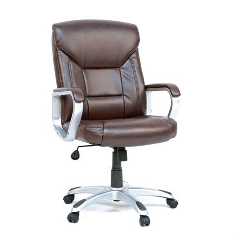 Gruga Brown Deluxe Leather Office Chair