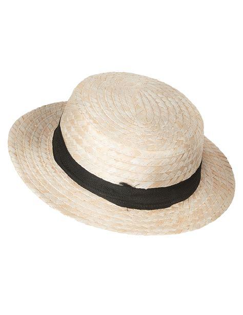 chapeau paille canotier deguise toi achat de chapeaux