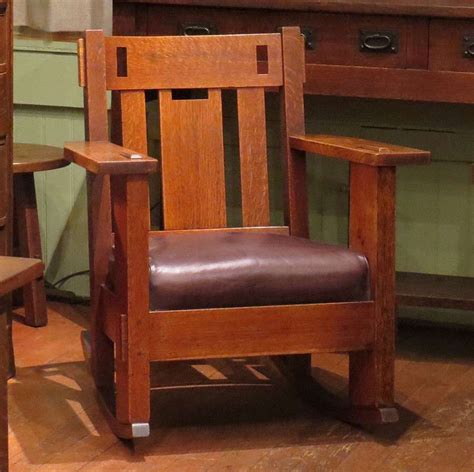 charles stickley cutout rocker california historical design
