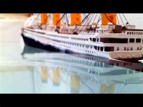 r m s titanic model sinking how to make do everything