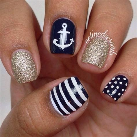 Boat Anchor Nail Art by Best 25 Anchor Nails Ideas On Pinterest Spring Nails