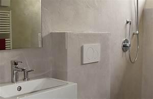 Beton Trockenzeit Fliesen : beton wall bad 1 wohndesign beton statt fliesen betonoptik betonoptik fu boden fugenlos ~ Markanthonyermac.com Haus und Dekorationen