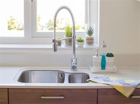 Organized & Pretty Kitchen Sink Frugal Home Decorating Blogs Decor Innovations Sliding Mirror Doors Sites Color Schemes Tree Branches Jcpenney Service Inspire Rustic Decorations