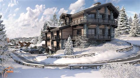 chalet sous la neige 2 2012 realistic design