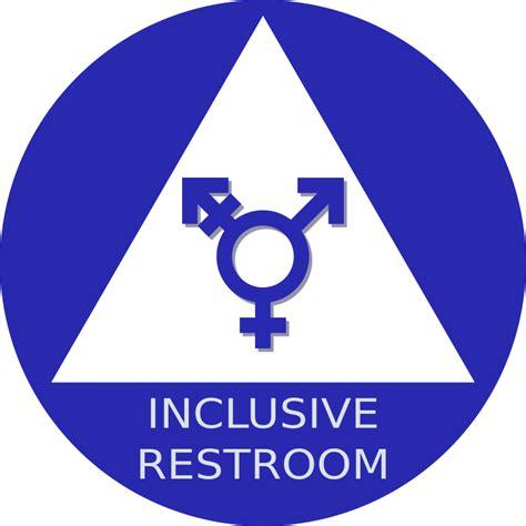 clipart gender neutral restroom sign