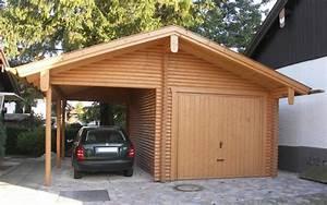 Holzgarage Mit Carport : einige tipps f r ihre perfekte holzgarage ~ Markanthonyermac.com Haus und Dekorationen