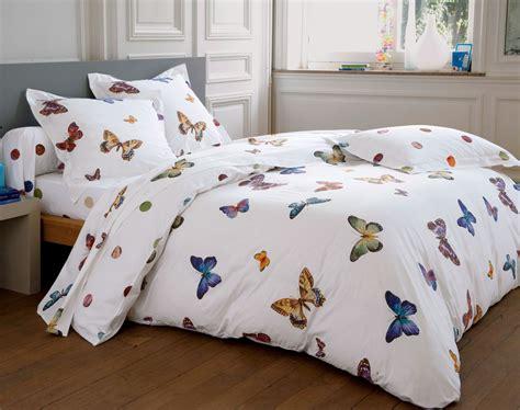 linge de lit papillons multicolores becquet cr 201 ation becquet