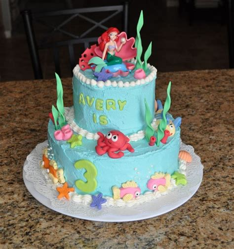 ariel birthday cake the mermaid birthday cake fondant birthday