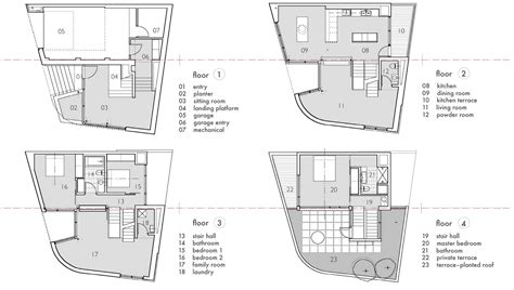 floor plans terrace split level house in philadelphia by