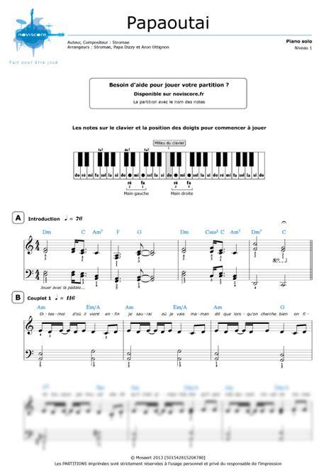 partition piano facile a jouer gratuite