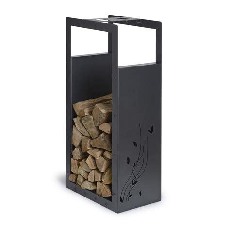 rangement pour bois acier laqu 233 noir sabl 233 equation h 100 cm leroy merlin