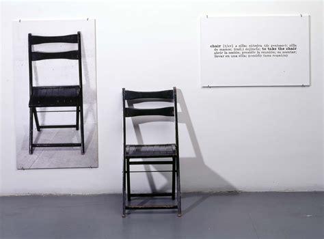 joseph kosuth one and three chairs