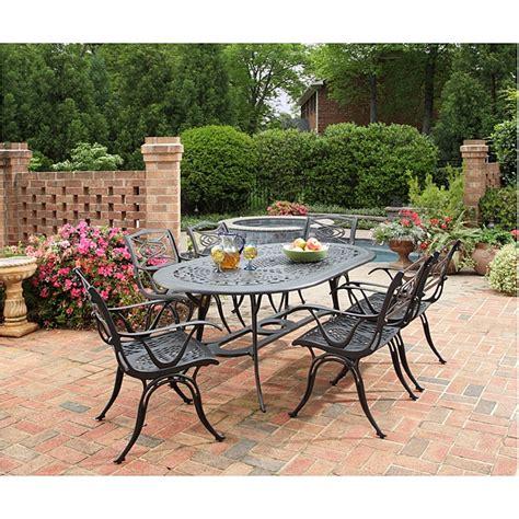 cast aluminum black 7 outdoor dining set patio