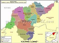 Map of BorsodAbaujZemplen County, Hungary