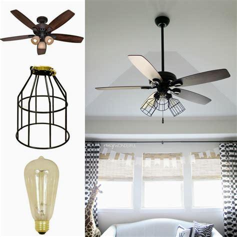 wonderful diy cage light ceiling fan