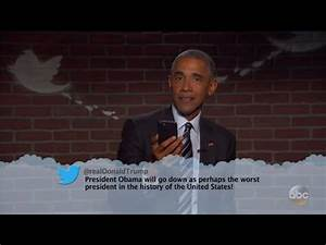 Watch President Obama Read a Mean Tweet From Donald Trump ...