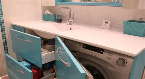 pratique le lave linge cach 233 dans la salle de bain meuble salle de bain avec lave linge