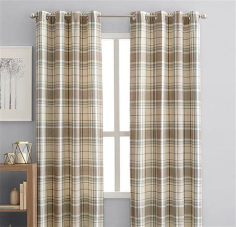 Window Curtains Walmartca by Hometrends Reilly Plaid 84 Quot Window Curtain Panel Grommets
