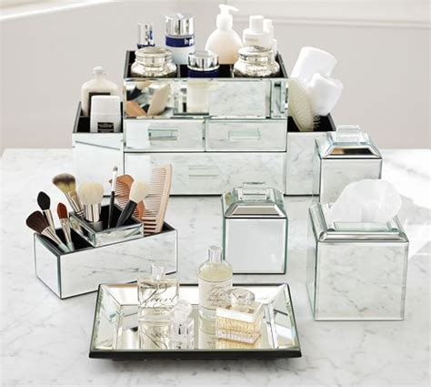 mirrored bath accessories pottery barn