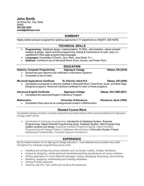 Computer Programmer Resume Sample & Template. Resume Format For Computer Science Engineering Students. Resume Sample For Server. Digital Marketing Resumes. Secretary Duties Resume. Spa Manager Resume. New Format For Resume. Un Resume Sample. How To Do A Resume On Microsoft Word 2010