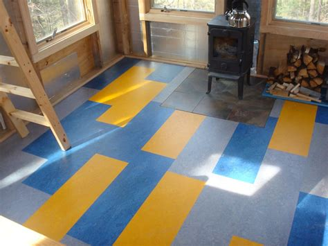 Building Mom's Yurt  A Blog Marmoleum Flooring