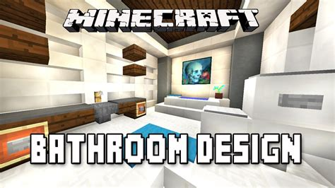 minecraft tutorial how to make a modern bathroom design