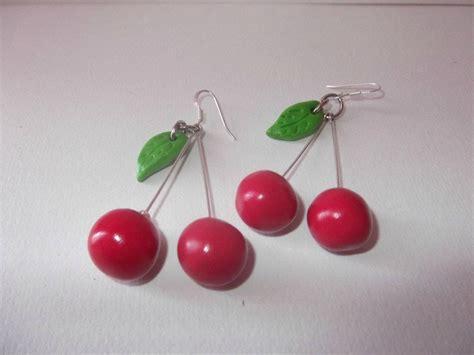 boucles d oreille fruits bijoux en pate fimo originaux
