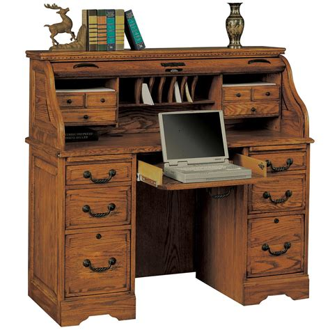 winners only heritage oak 48 quot rolltop desk with 2 locking