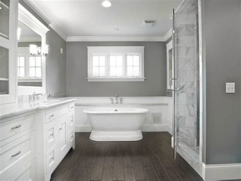 Houzz Laundry Rooms, Gray Bathrooms With Wood Floor Tile