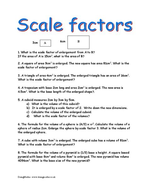 7th Grade Scale Factor Worksheets Worksheets For All  Download And Share Worksheets  Free On