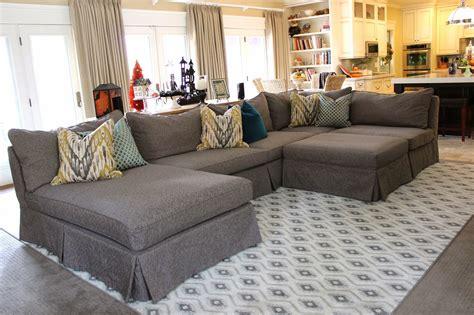 grey sectional living room ideas inspiring custom slipcovers for grey sectional
