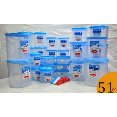 Buy Chetan Set Of 51 Pcs Plastic Airtight Kitchen Storage
