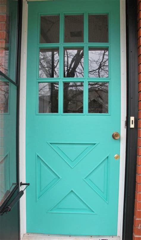 a diy turquoise front door hometalk