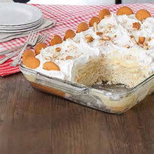 banana pudding poke cake potluck poke cakes taste of the south