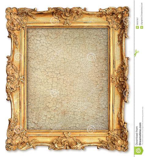 cadre d or avec la toile criqu 233 e vide pour votre photo photo stock image 39537957